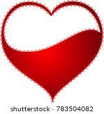 red heart valentine love logo... | Shutterstock .eps vector #783504082