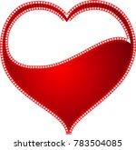 red heart valentine love logo... | Shutterstock .eps vector #783504085