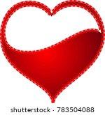 red heart valentine love logo... | Shutterstock .eps vector #783504088