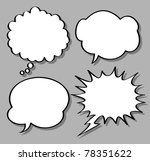 comical bubble speech | Shutterstock .eps vector #78351622