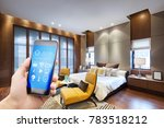 smart phone with smart home and ... | Shutterstock . vector #783518212