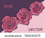 Vector Decorative Large Flower...