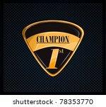 elegant badge medal   Shutterstock .eps vector #78353770