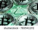 "bitcoins around the ""eye of...   Shutterstock . vector #783541192"
