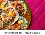 authentic mexican tacos al... | Shutterstock . vector #783542698