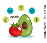 healthy food set icons | Shutterstock .eps vector #783545482