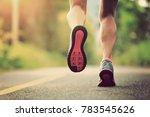 fitness female trail runner... | Shutterstock . vector #783545626