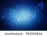 2d illustration medical... | Shutterstock . vector #783553816
