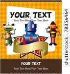 cartoon robot card | Shutterstock .eps vector #78356464
