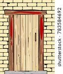 a passover door with blood on... | Shutterstock .eps vector #783584692