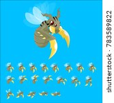animated flying insect for...   Shutterstock .eps vector #783589822