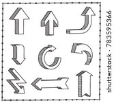sketchy arrow set. hand drawn... | Shutterstock .eps vector #783595366
