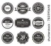 vector label seal premium... | Shutterstock .eps vector #783595648