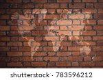 red brick wall texture... | Shutterstock . vector #783596212