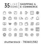 vector set of e commerce modern ... | Shutterstock .eps vector #783601582
