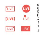 simple live icons | Shutterstock .eps vector #783603238