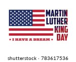 martin luther king day vector... | Shutterstock .eps vector #783617536