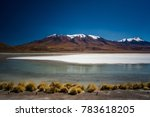 the green lagoon licancabur...   Shutterstock . vector #783618205