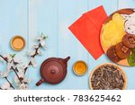 flat lay chinese new year new... | Shutterstock . vector #783625462