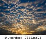 atmosphere of the evening sky  | Shutterstock . vector #783626626