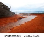 view of the hot springs  mount... | Shutterstock . vector #783627628