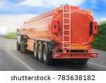 big gas tank truck goes on... | Shutterstock . vector #783638182