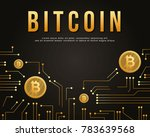 block chain background style... | Shutterstock .eps vector #783639568