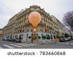 paris  france  24 dec 2017 ... | Shutterstock . vector #783660868