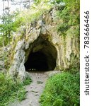 path leading to the dark cave... | Shutterstock . vector #783666466