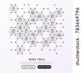 work tools concept in... | Shutterstock .eps vector #783669796