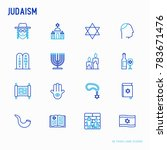 judaism thin line icons set ... | Shutterstock .eps vector #783671476