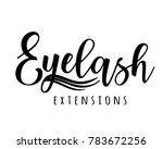 eyelash extension logo. vector... | Shutterstock .eps vector #783672256