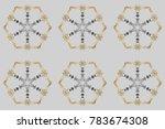 zentangle elegant snow flake.... | Shutterstock . vector #783674308