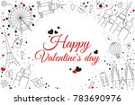 romantic white background with... | Shutterstock .eps vector #783690976
