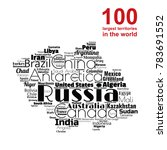 100 biggest countries word... | Shutterstock .eps vector #783691552