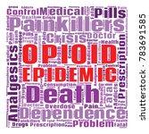 opioid crisis word cloud... | Shutterstock .eps vector #783691585