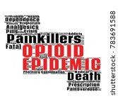 opioid crisis word cloud... | Shutterstock .eps vector #783691588