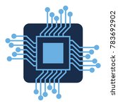 processor circuit isolated icon | Shutterstock .eps vector #783692902