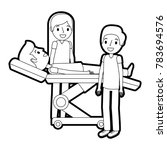 dental stretcher with patient... | Shutterstock .eps vector #783694576