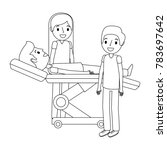 dental stretcher with patient... | Shutterstock .eps vector #783697642