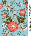beautiful  pattern floral   Shutterstock . vector #78369802