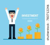 businessman investment concept  ... | Shutterstock .eps vector #783712246