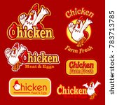 chicken banner illustration | Shutterstock .eps vector #783713785