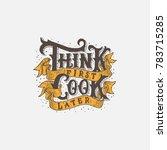 typography   hand lettering... | Shutterstock .eps vector #783715285