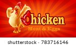 chicken meat and eggs | Shutterstock .eps vector #783716146