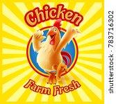 chicken  farm fresh | Shutterstock .eps vector #783716302