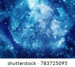 Space Watercolor Background....