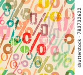 seamless percent pattern... | Shutterstock .eps vector #783732622