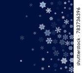 snowflake macro vector...   Shutterstock .eps vector #783736396