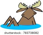 Illustration Of A Startled Bul...